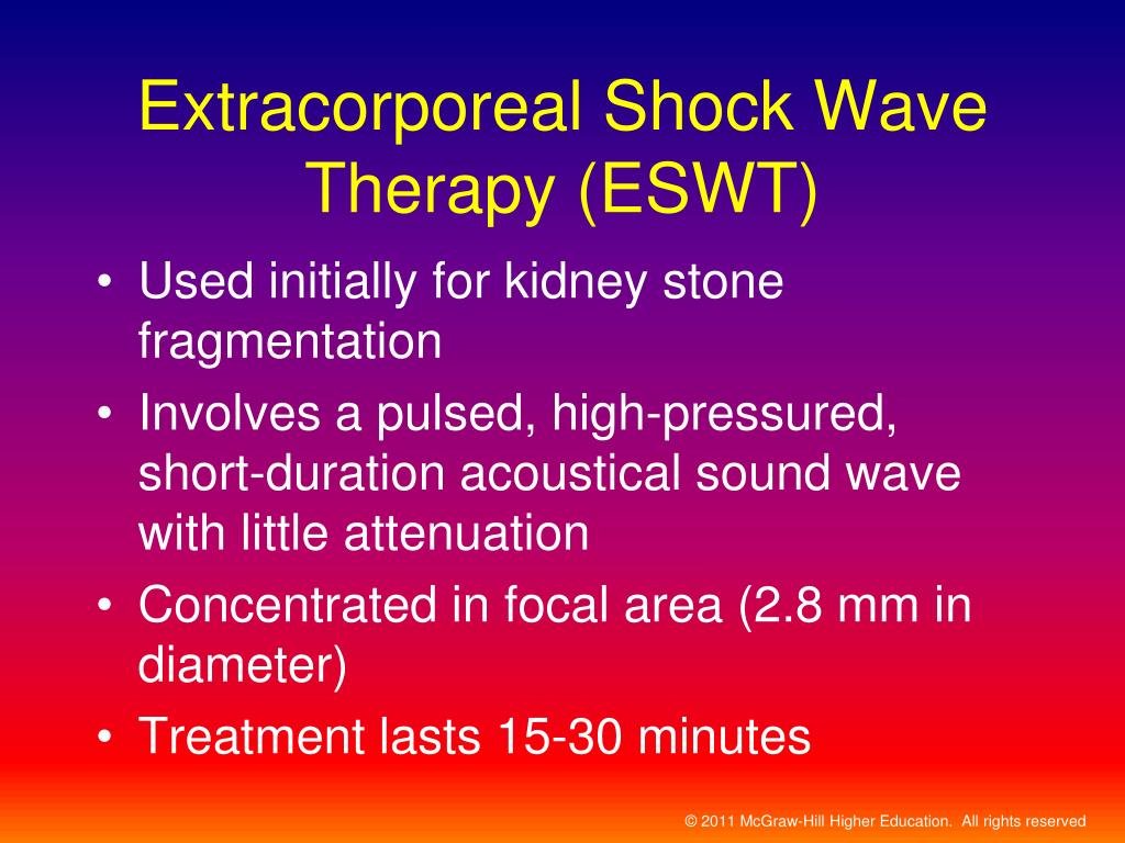Extracorporeal Shock Wave Therapy (ESWT)