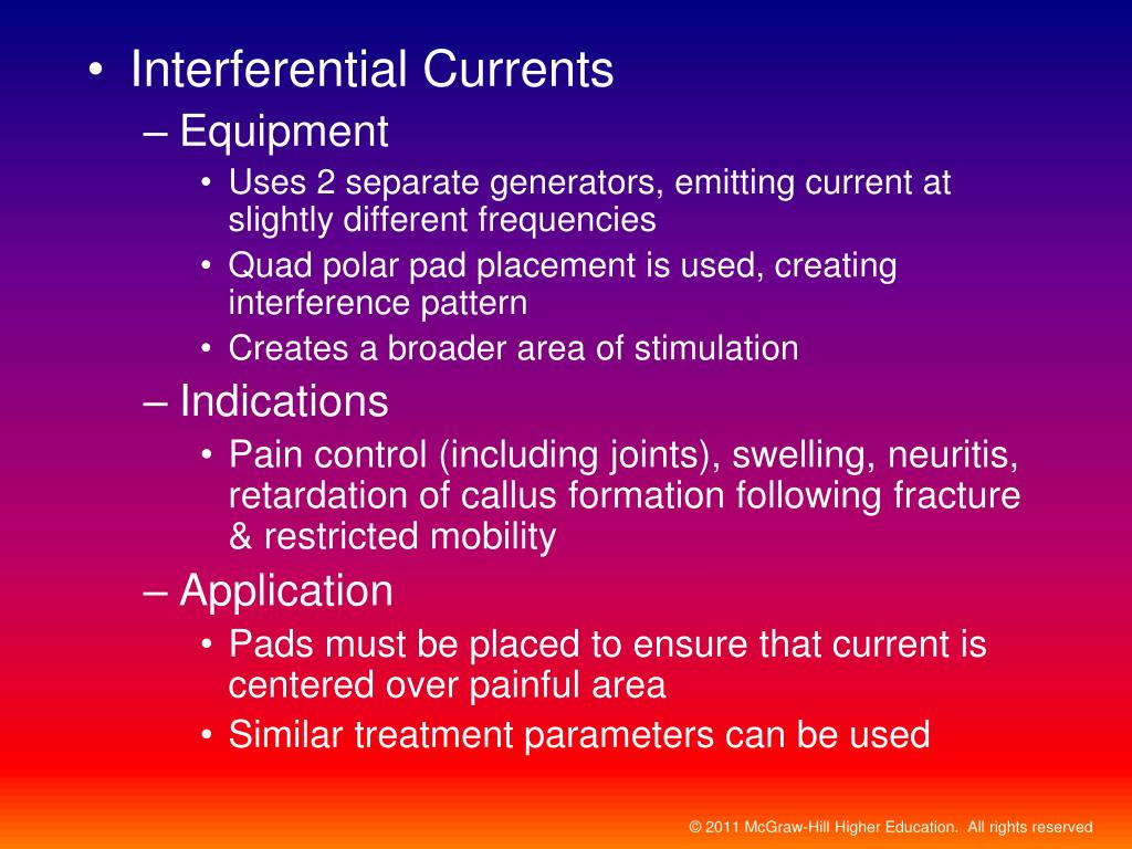 Interferential Currents