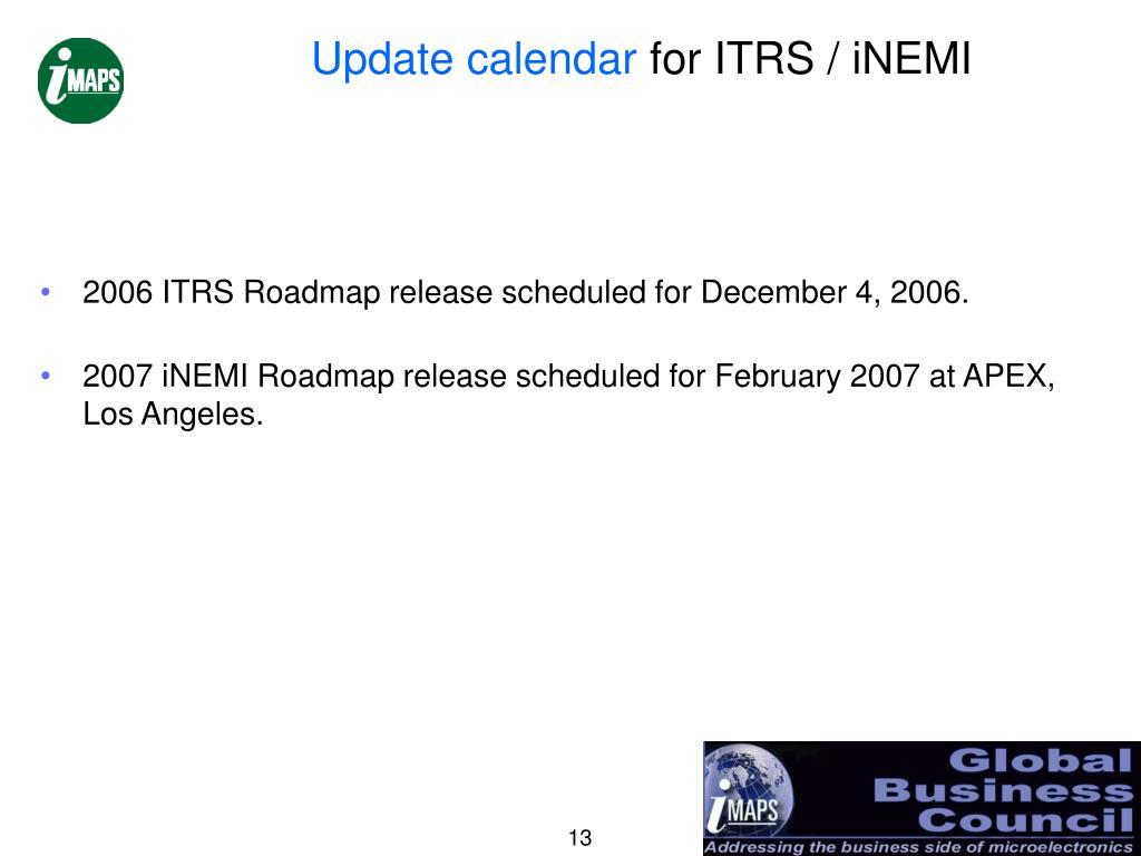 Update calendar