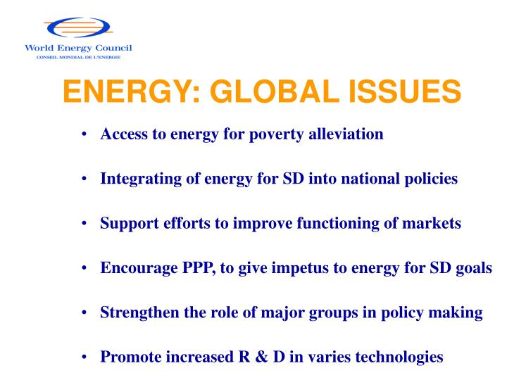 Energy global issues