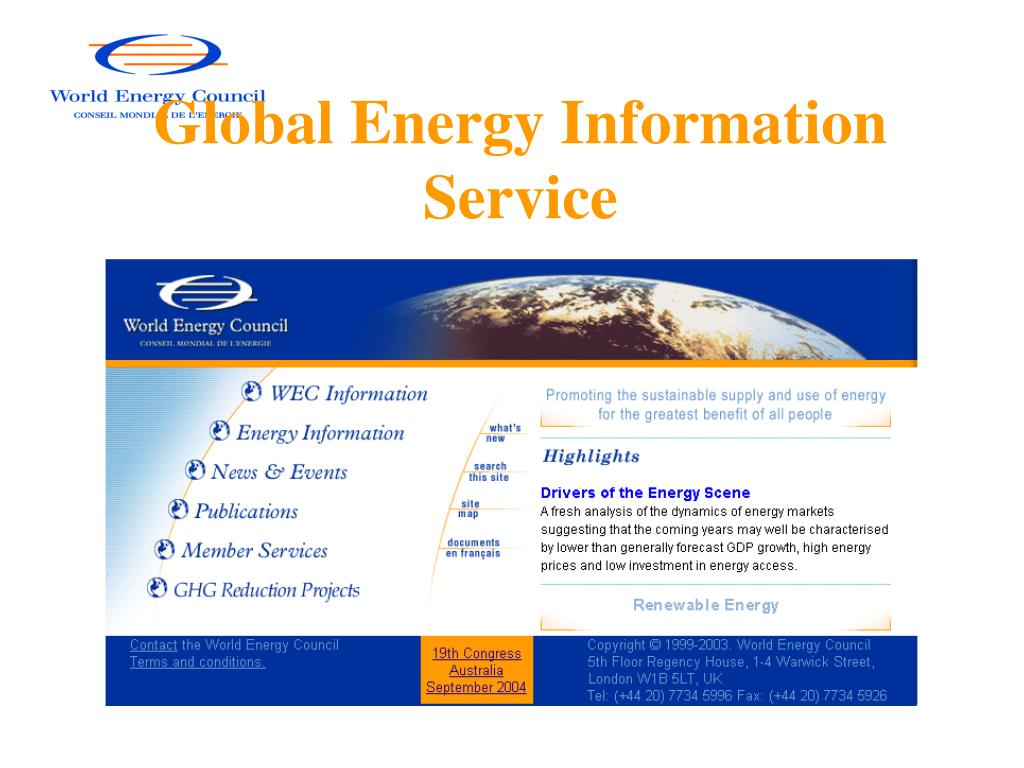 Global Energy Information Service