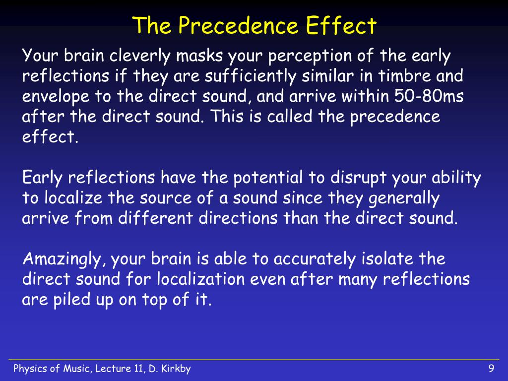The Precedence Effect
