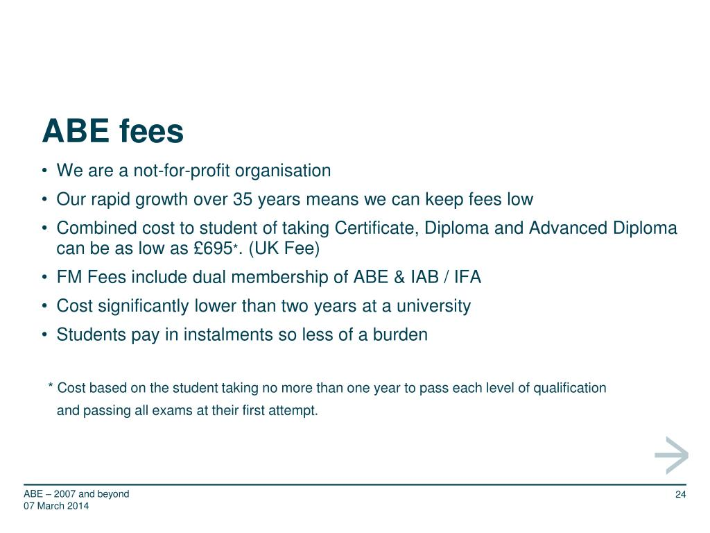 ABE fees