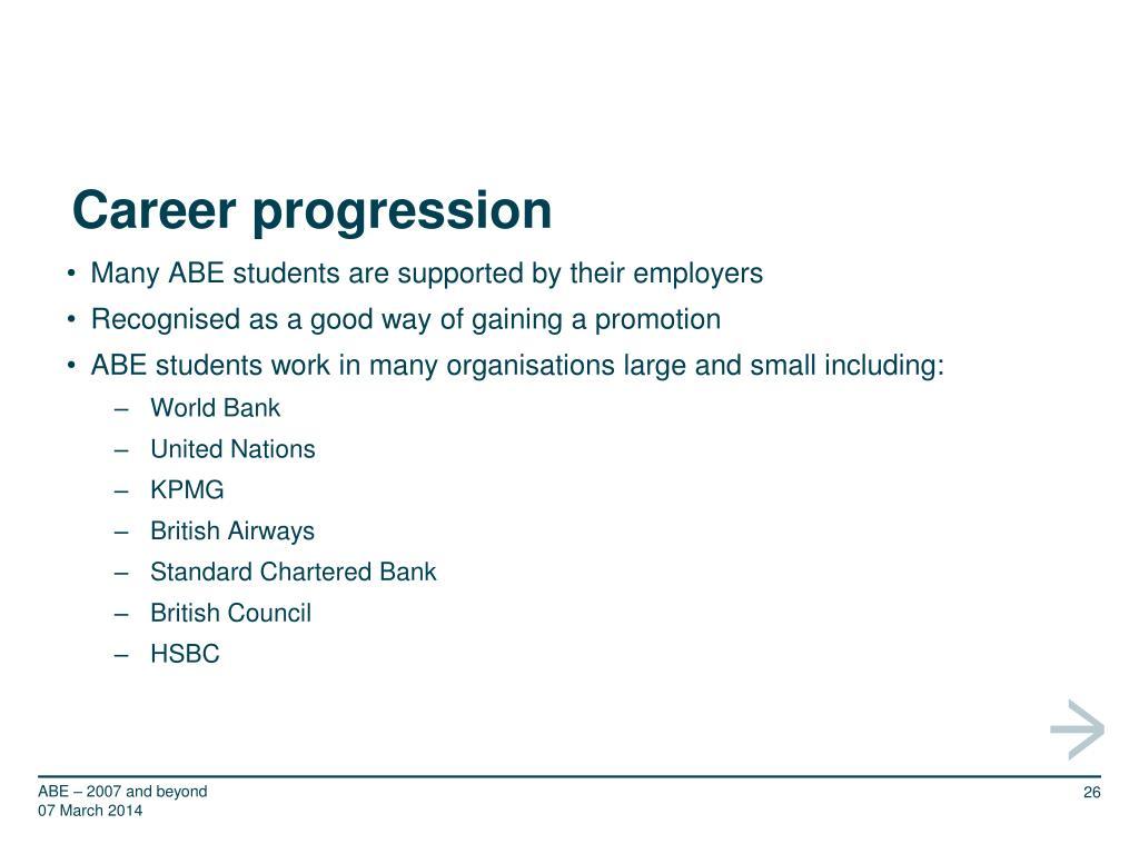 Career progression