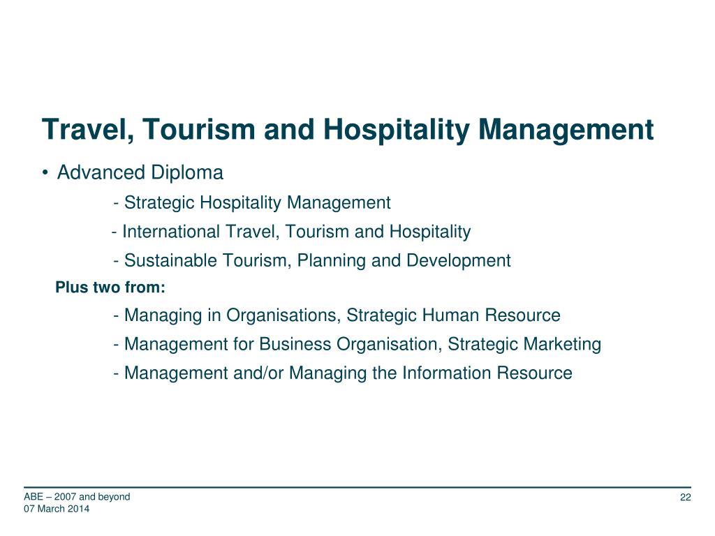 Travel, Tourism and Hospitality Management