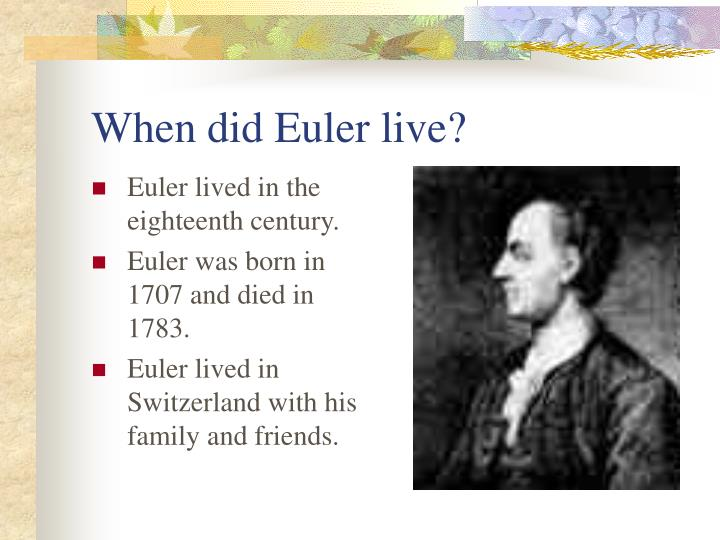 When did euler live