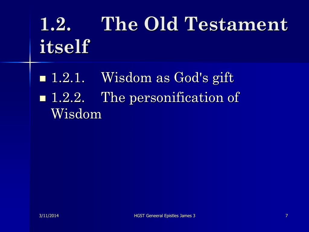 1.2.	The Old Testament itself