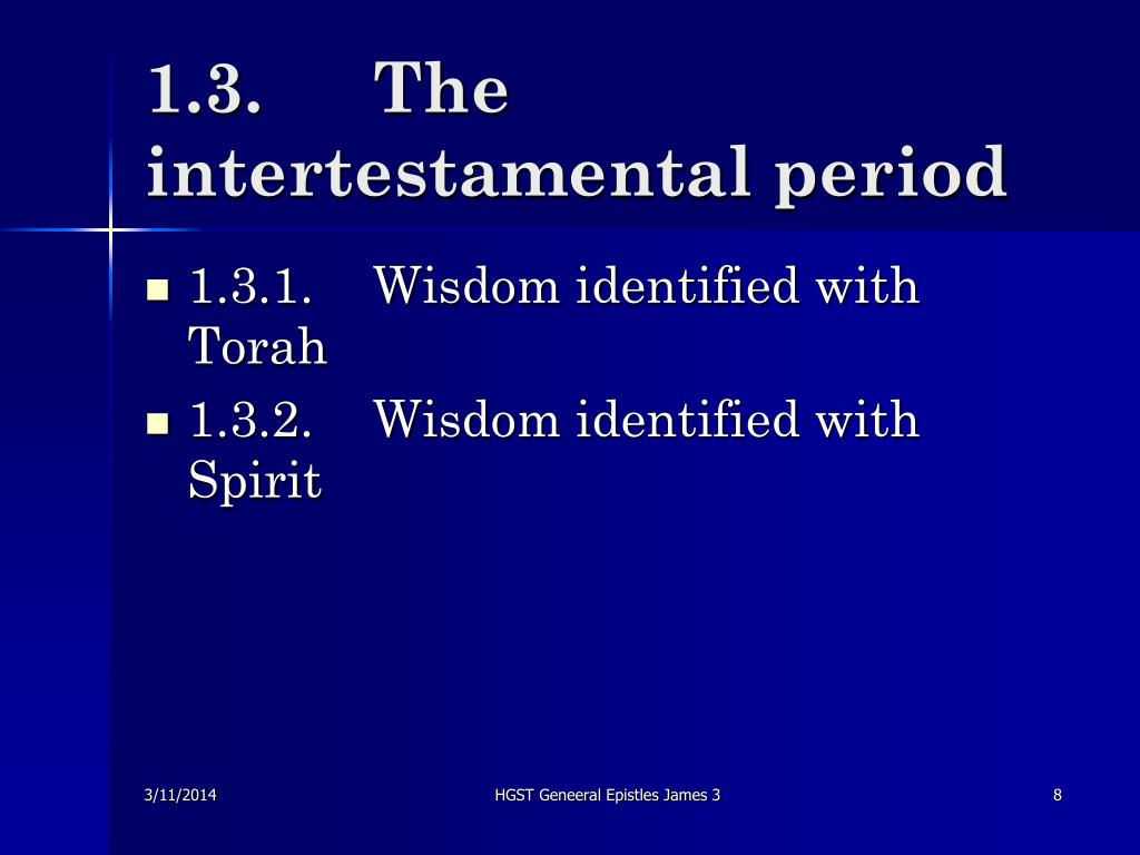 1.3.	The intertestamental period