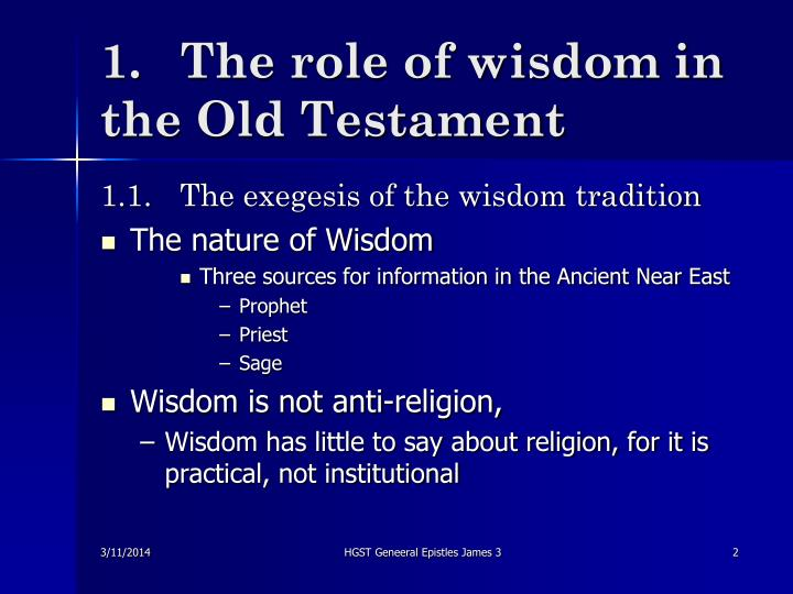 1 the role of wisdom in the old testament