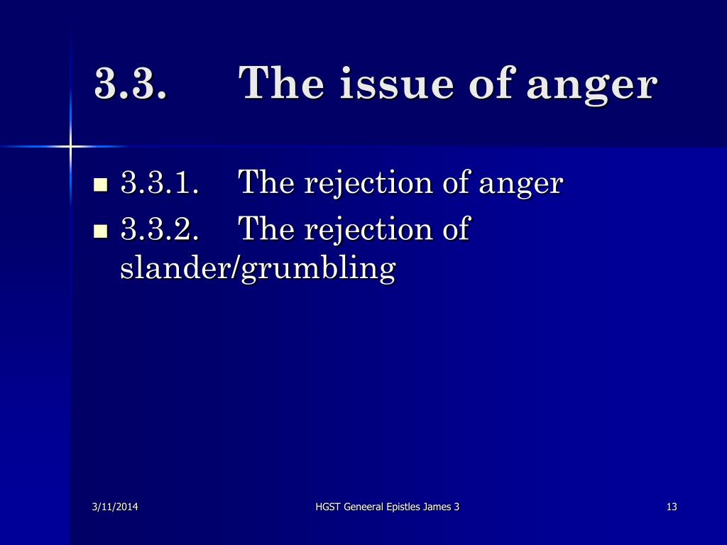 3.3.	The issue of anger
