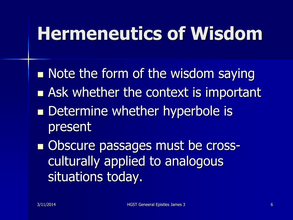 Hermeneutics of Wisdom