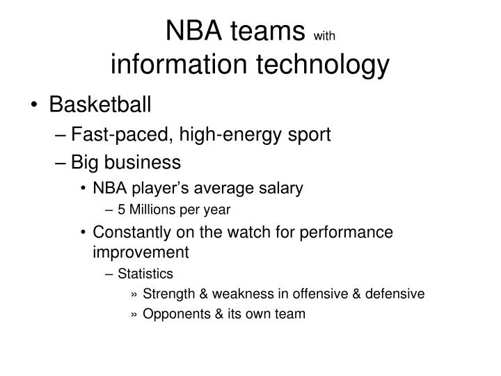 Nba teams with information technology