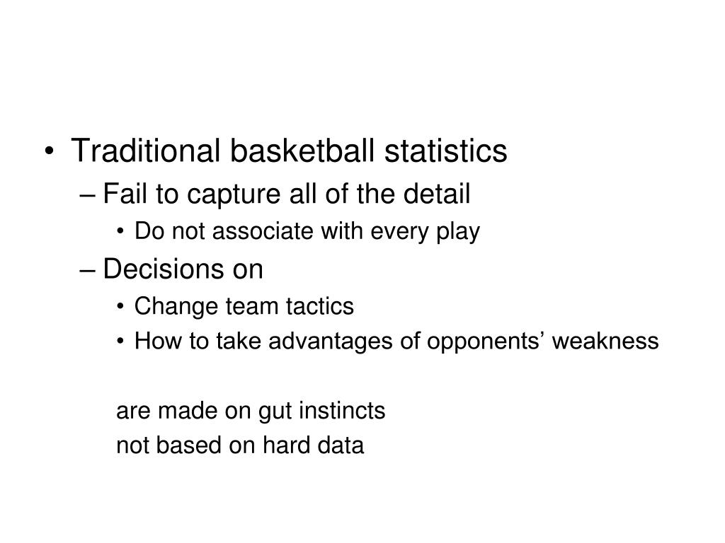Traditional basketball statistics