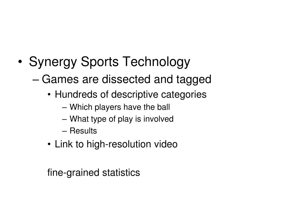 Synergy Sports Technology
