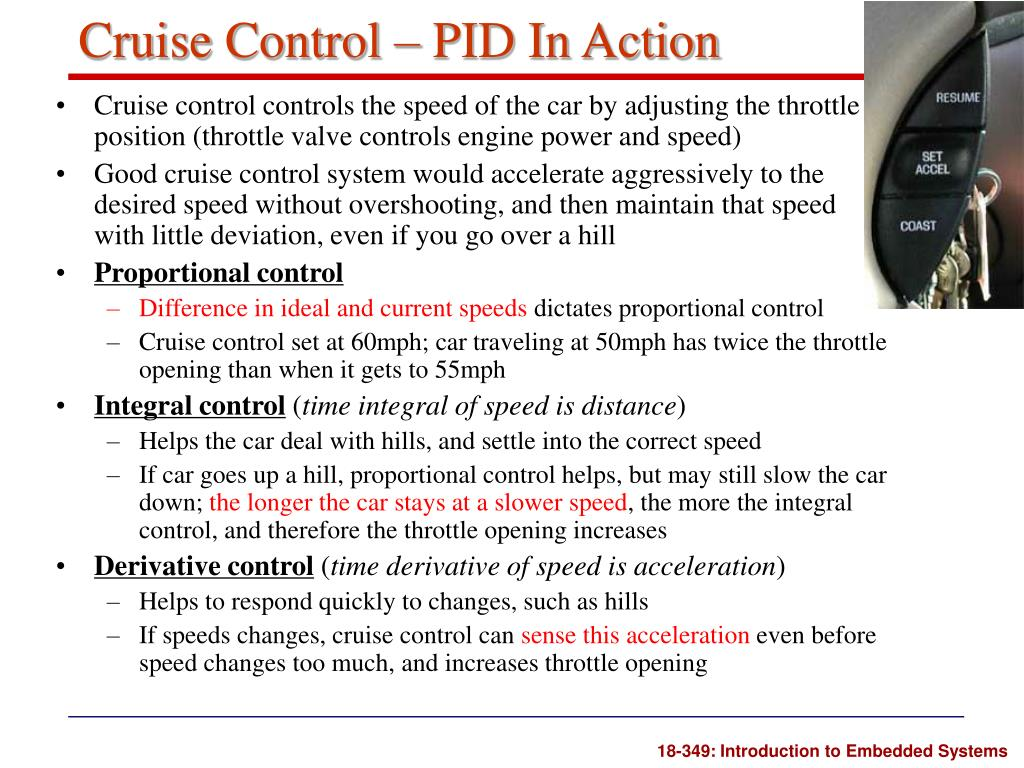 Cruise Control – PID In Action