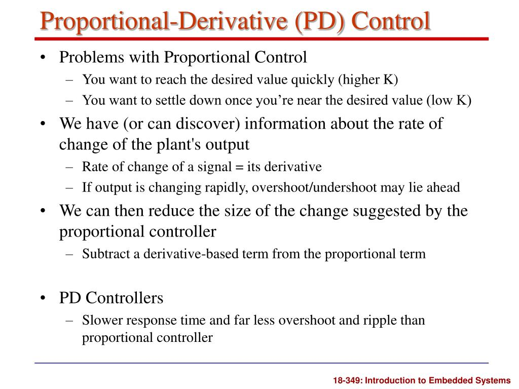 Proportional-Derivative (PD) Control