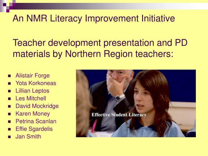 An NMR Literacy Improvement Initiative