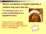 before vocabulary is taught explicitly a student may learn like this