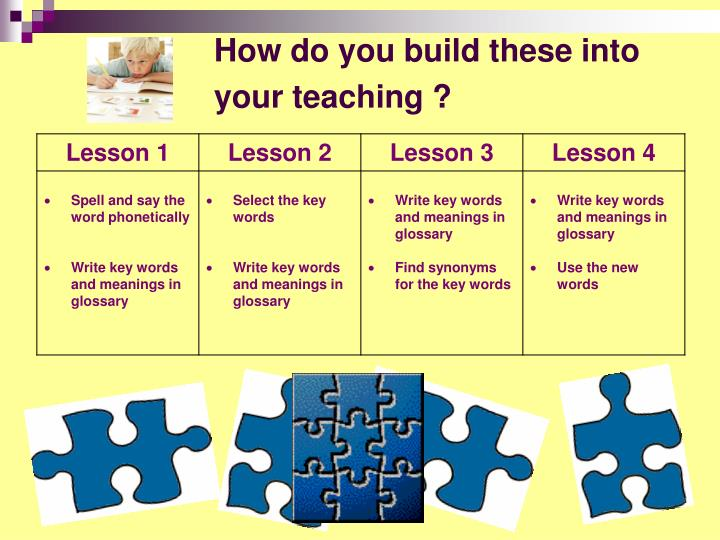 How do you build these into your teaching ?