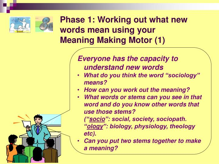 Phase 1: Working out what new words mean using your