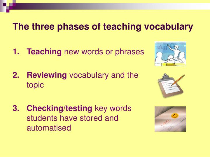 The three phases of teaching vocabulary