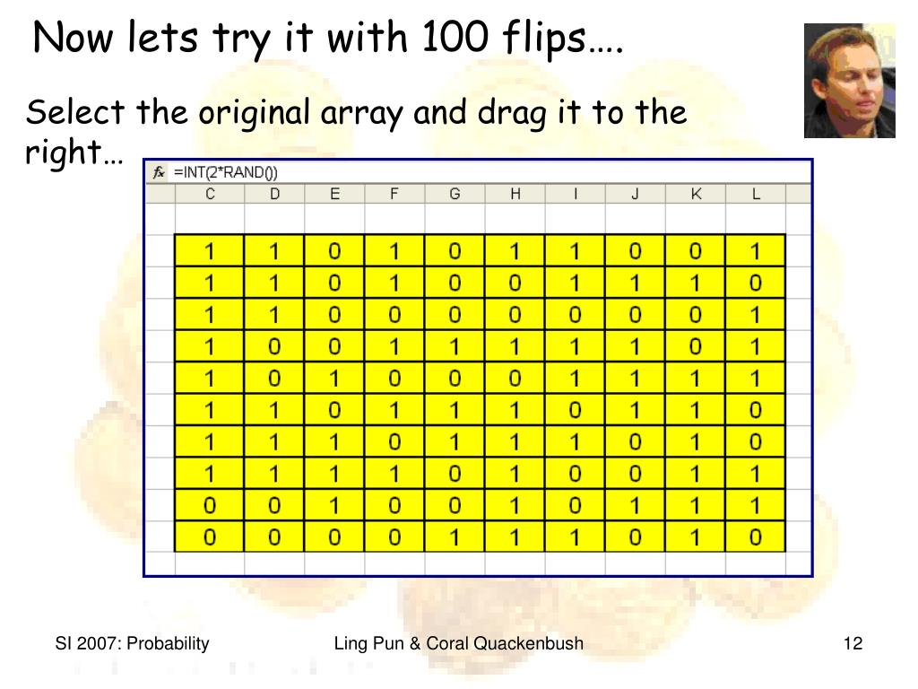 Now lets try it with 100 flips….