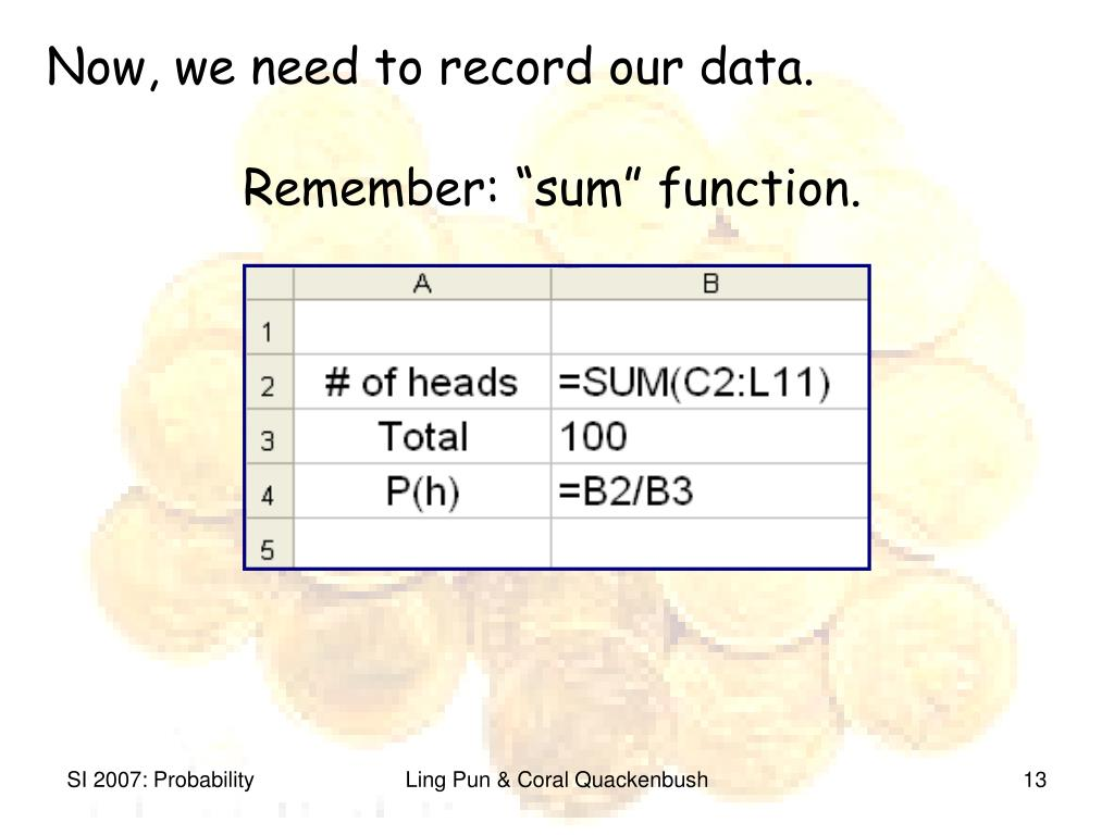 Now, we need to record our data.