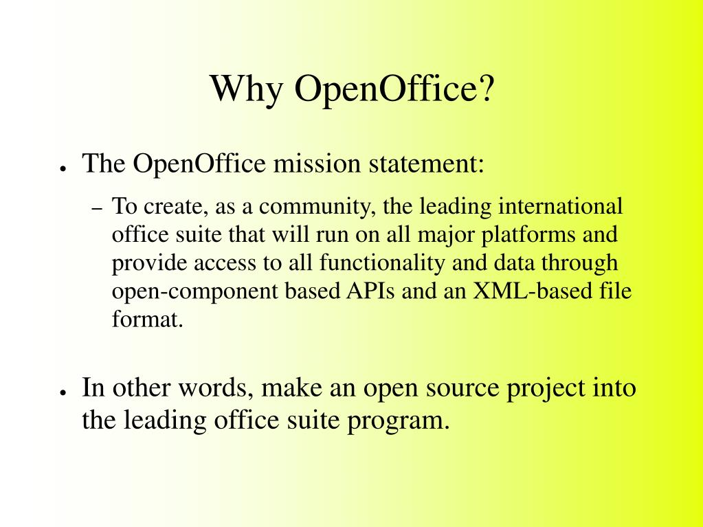 Why OpenOffice?