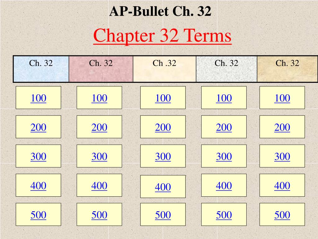 AP-Bullet Ch. 32