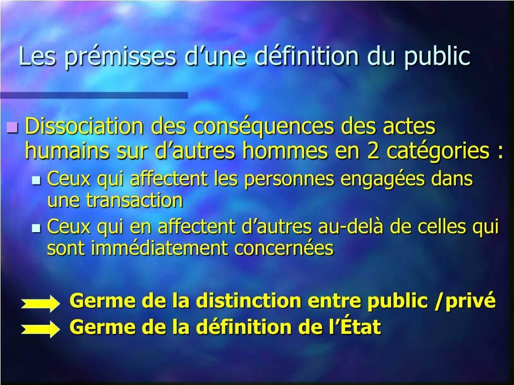 Les prémisses d'une définition du public