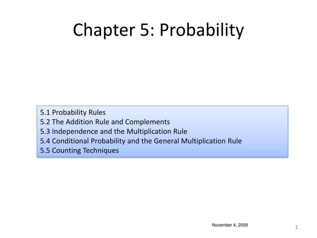 Chapter 5: Probability