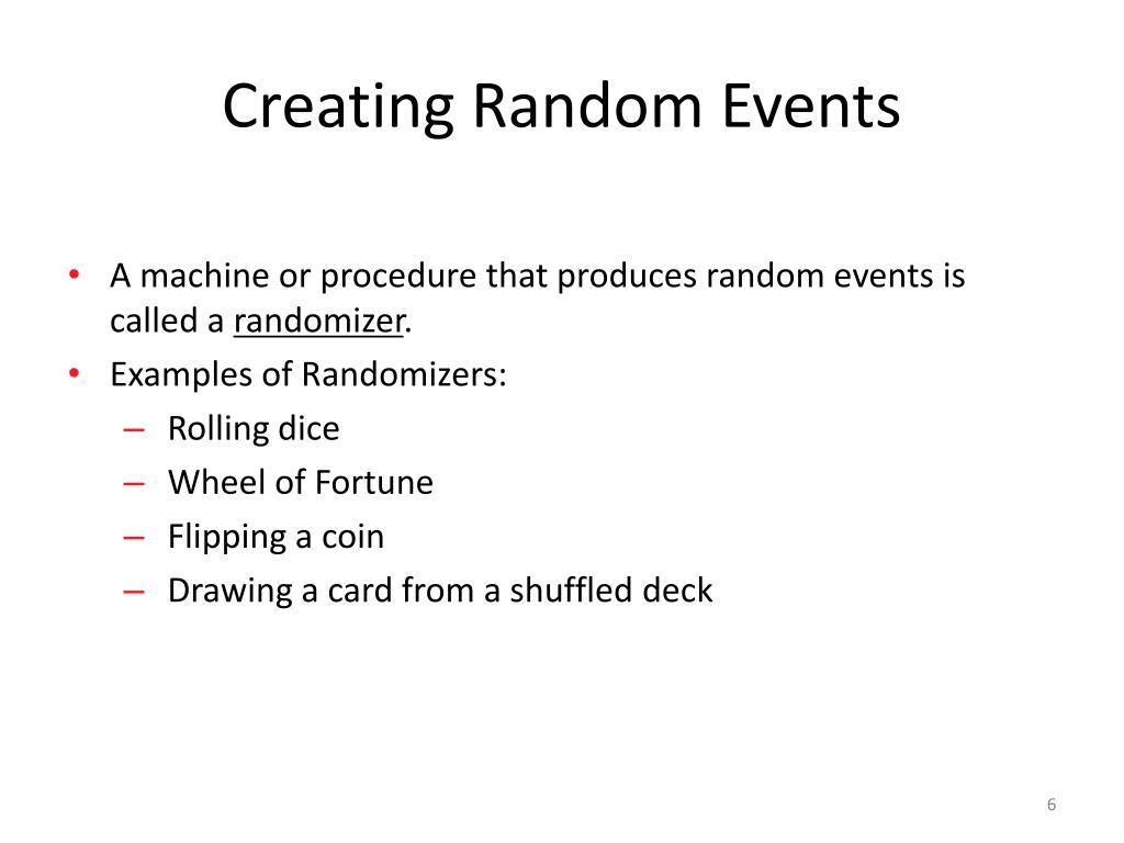 Creating Random Events