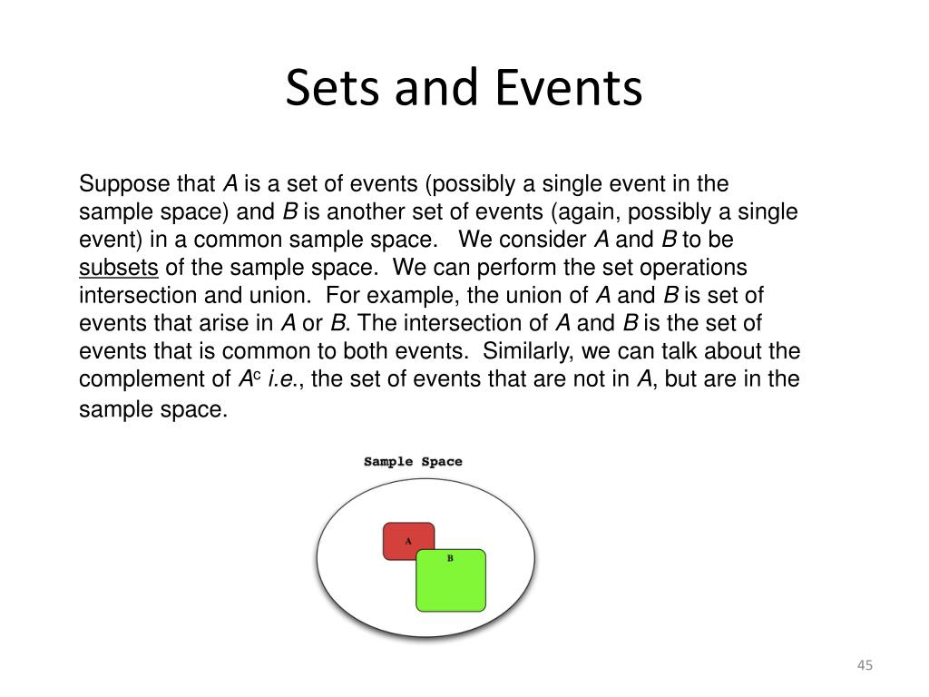 Sets and Events