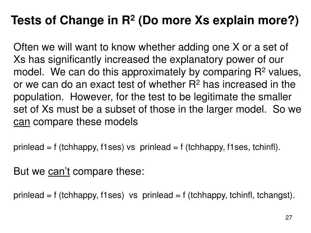Tests of Change in R