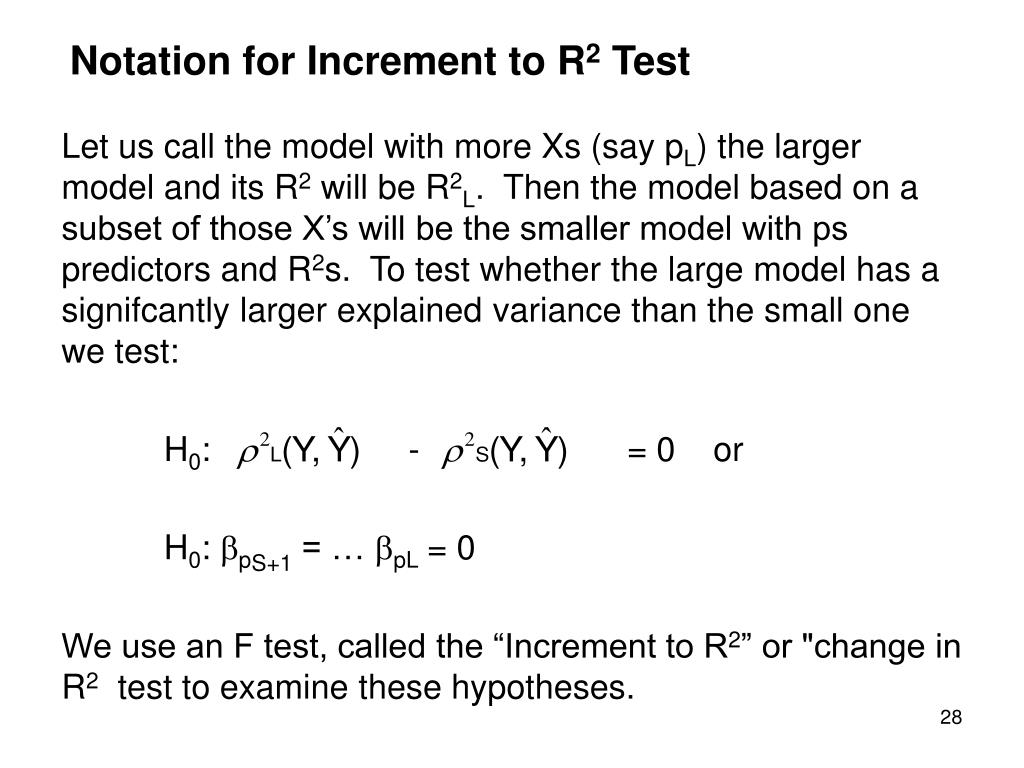 Notation for Increment to R