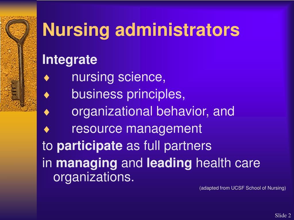 Nursing administrators