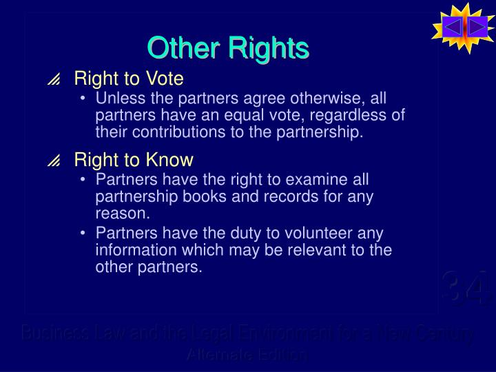 Other Rights
