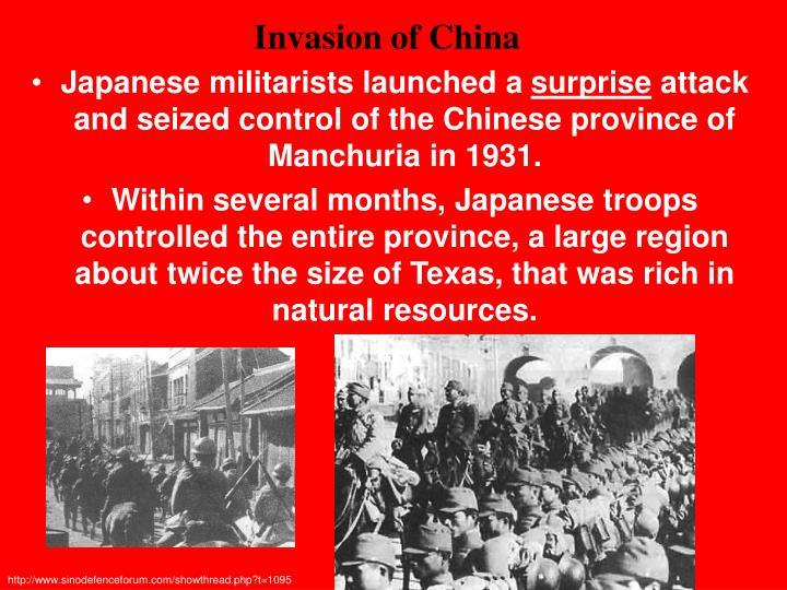 Invasion of China