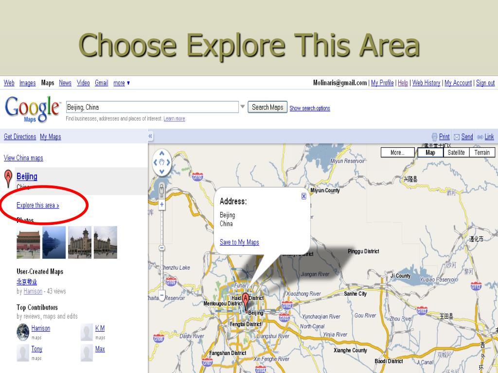 Choose Explore This Area