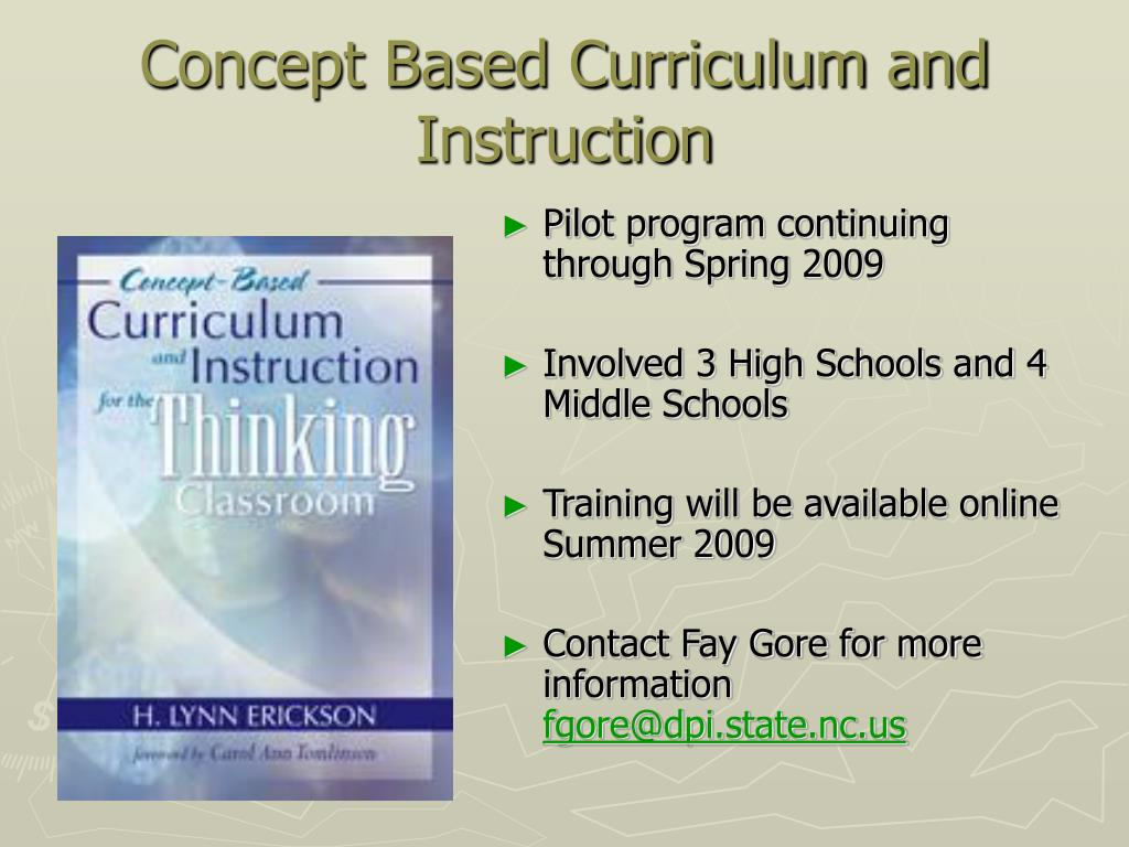 Concept Based Curriculum and Instruction