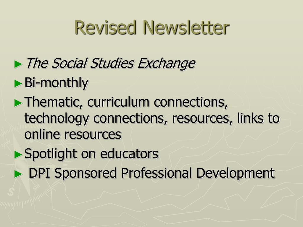 Revised Newsletter