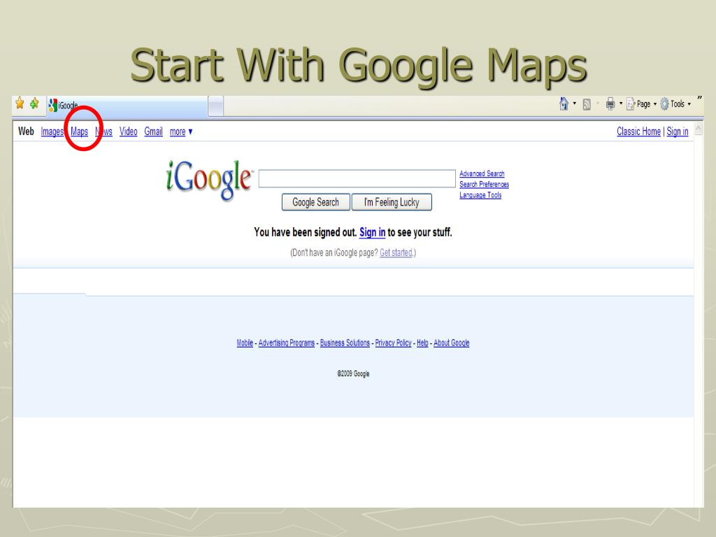 Start With Google Maps