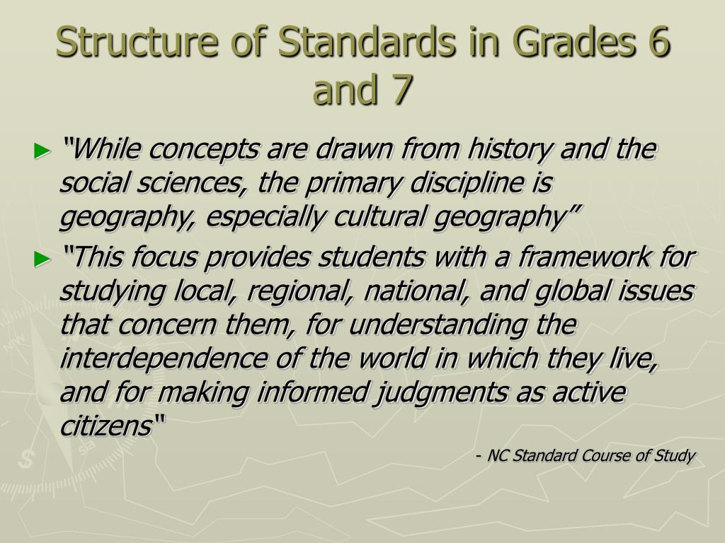 Structure of Standards in Grades 6 and 7