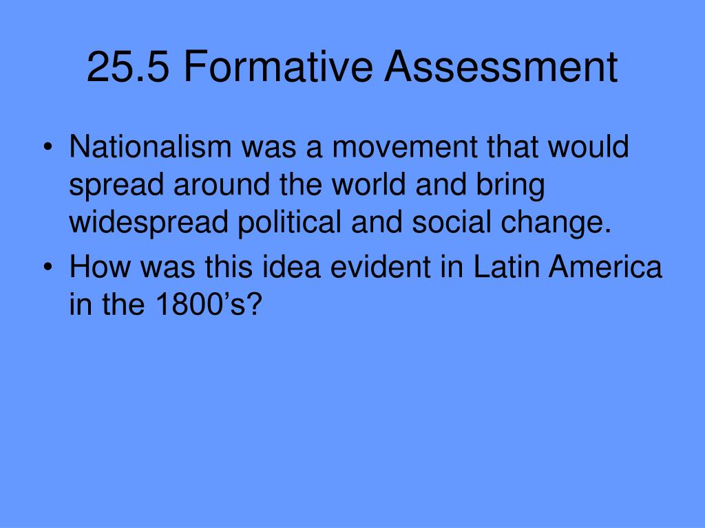 25.5 Formative Assessment