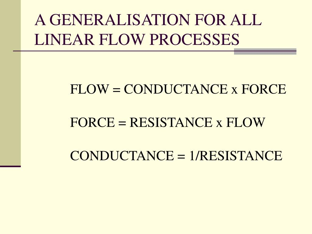 A GENERALISATION FOR ALL LINEAR FLOW PROCESSES