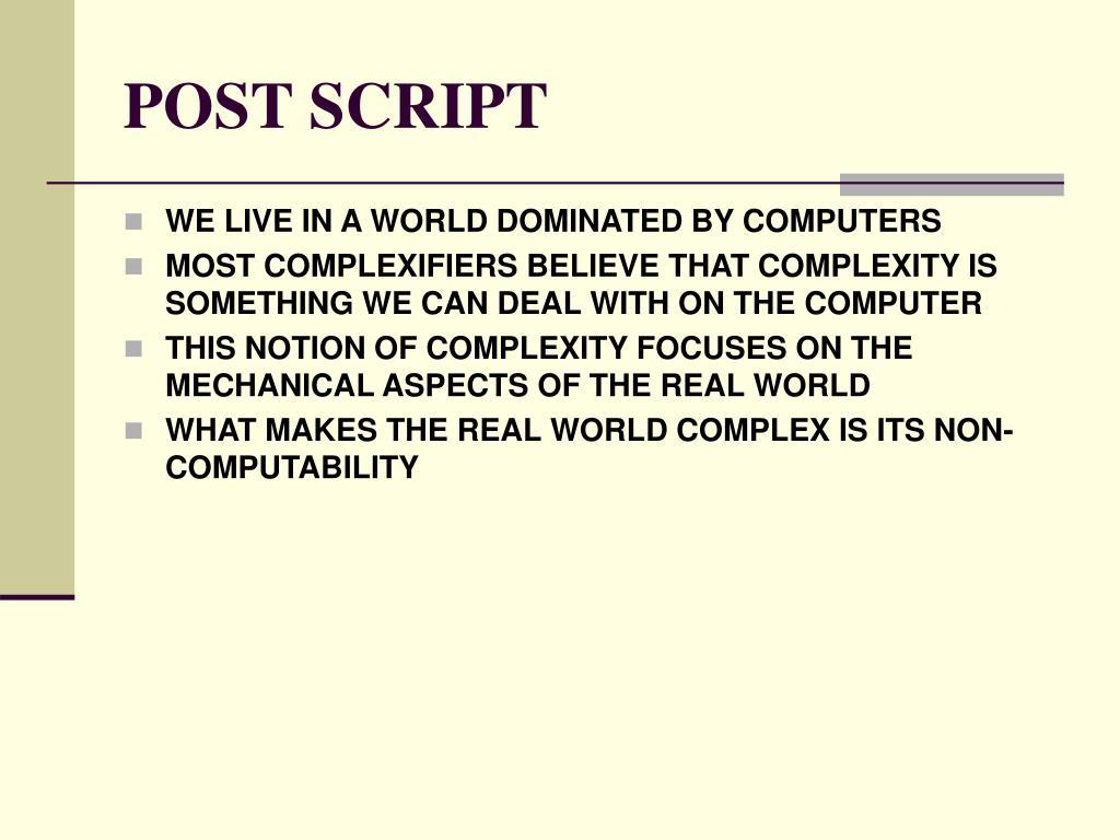 POST SCRIPT