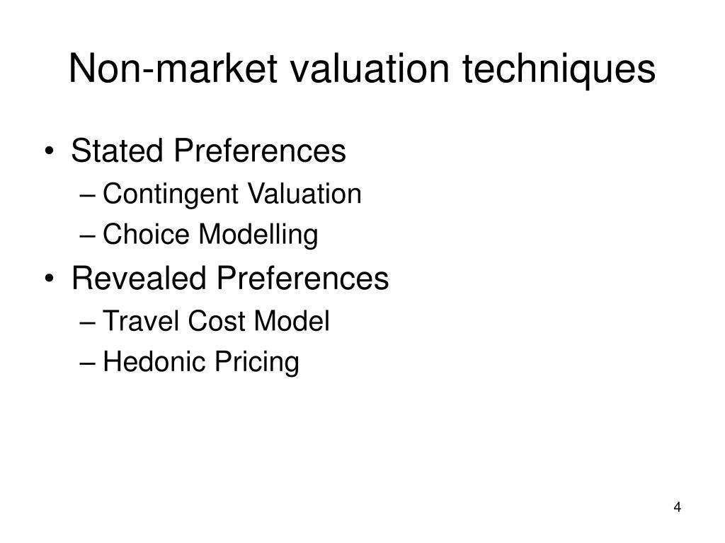 Non-market valuation techniques