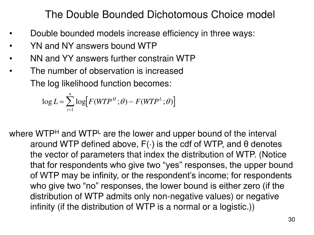 The Double Bounded Dichotomous Choice model