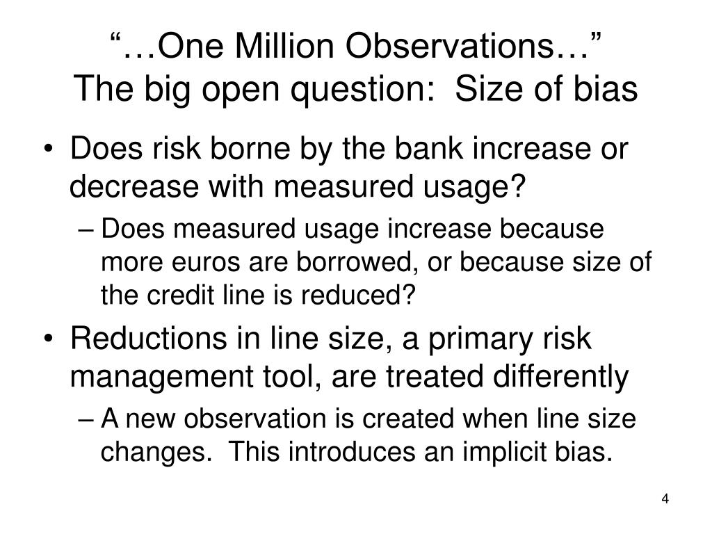 """…One Million Observations…"""