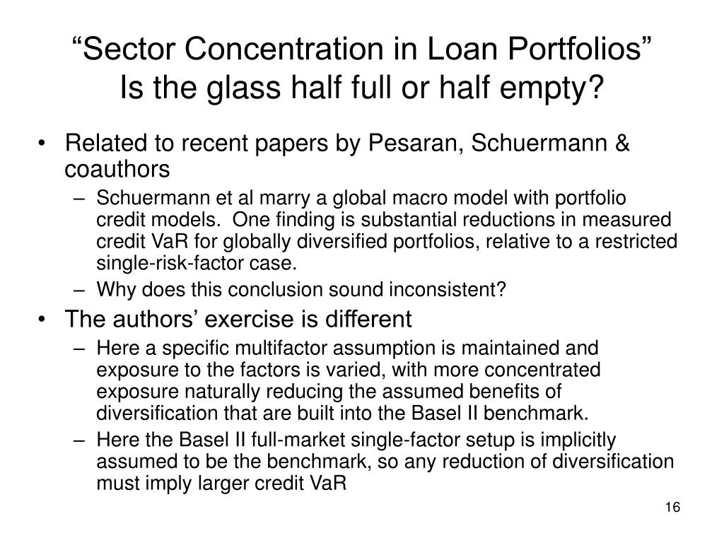 """Sector Concentration in Loan Portfolios"""